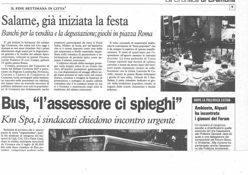 La Cronaca di Cremona - 18 settembre 2010