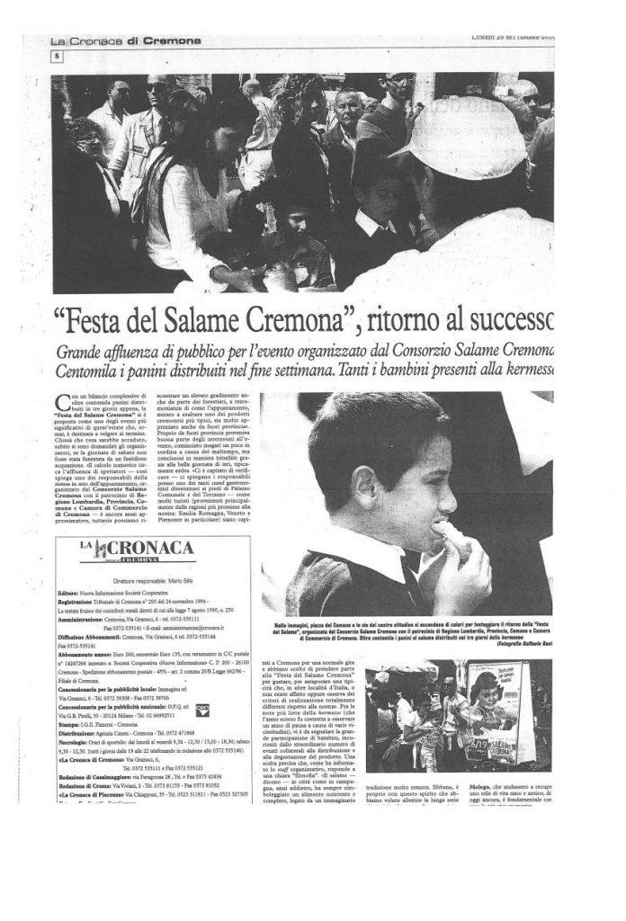 La Cronaca di Cremona - 20 settembre 2010
