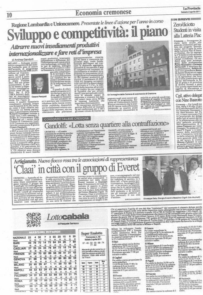 La Provincia di Cremona - 02 aprile 2011