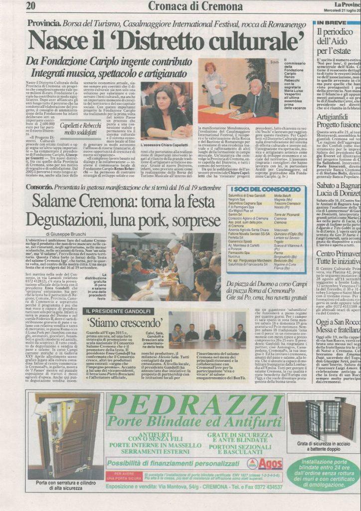 La Provincia di Cremona - 21 luglio 2010